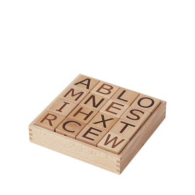 Kid's Concept Alphabet Building Blocks – Natural