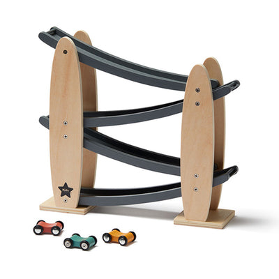 Kid's Concept Car Track AIDEN – Natural Grey