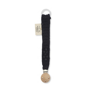 Konges Sløjd Pacifier Strap Knit Cotton - Navy