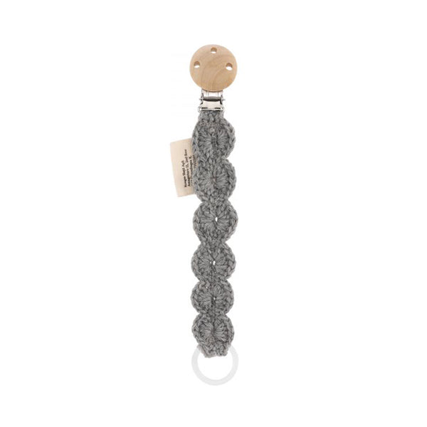 Konges Sløjd Pacifier Strap – Light Grey Melange