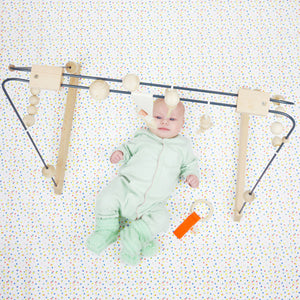 &me Baby Gym – Charcoal Grey with Off White Details