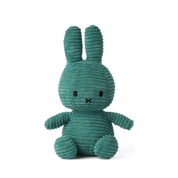 Miffy Corduroy Soft Toy - Teal Green