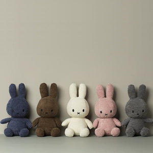 Miffy Corduroy Soft Toy – Grey