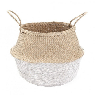 Olli Ella White Dipped Belly Basket - Medium