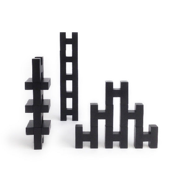 Rock and Pebble H Blocks - Black