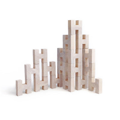 Rock and Pebble H Blocks – Natural