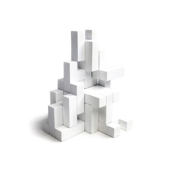 Rock and Pebble H Blocks – White