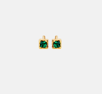 GUA GREEN EARRINGS - MAANESTEN