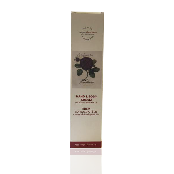 Hand & Body Cream w. Rose Essential Oil