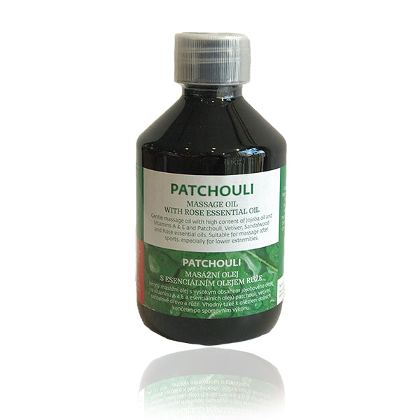 Patchouli massageolie med rose