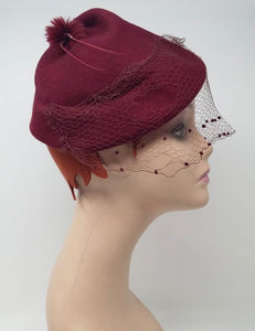 True vintage hat with veil