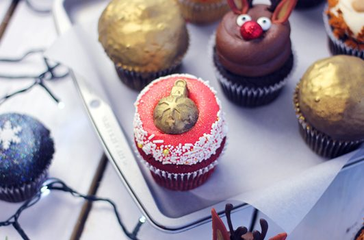 Flavourtown Bakery Christmas Cupcakes for delivery in London