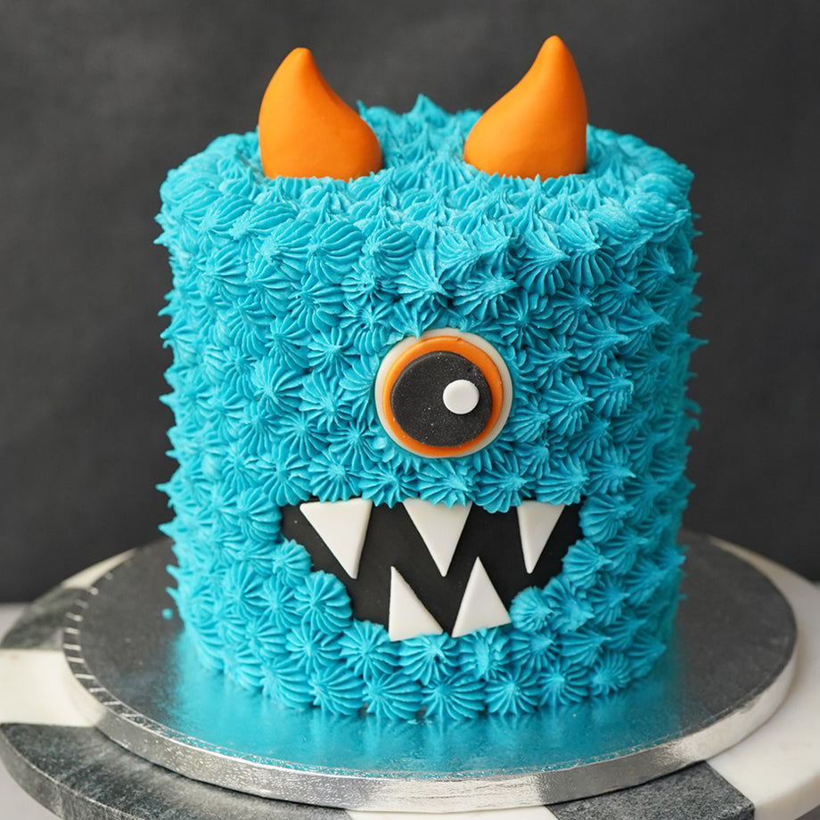 Halloween Blue Monster Cake