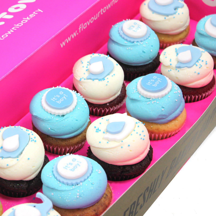 Baby Shower Cupcakes Order Cupcakes Online London Flavourtown Bakery