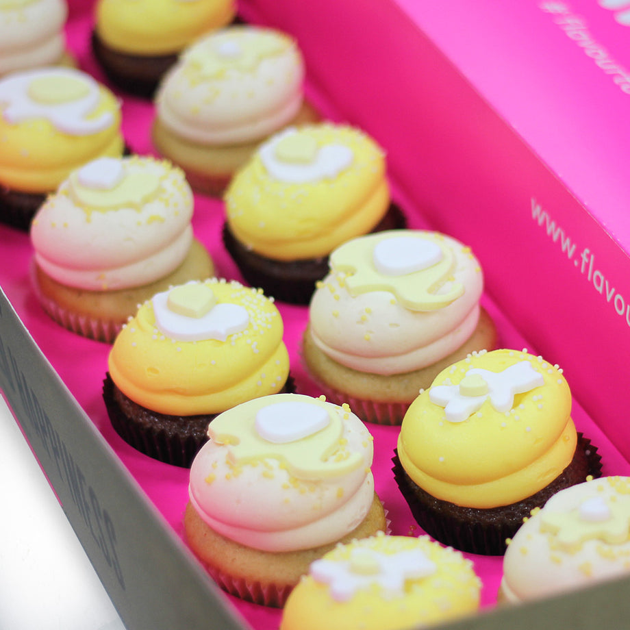 Baby Yellow Cupcake Box