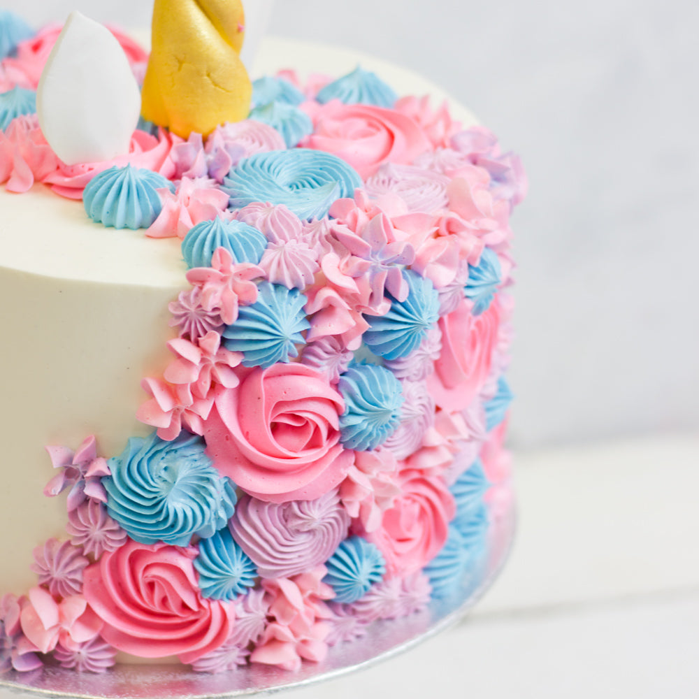 Mythical Mane Unicorn Cake