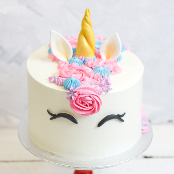 Mythical Mane Unicorn Cake With Rainbow Sponge Unicorn