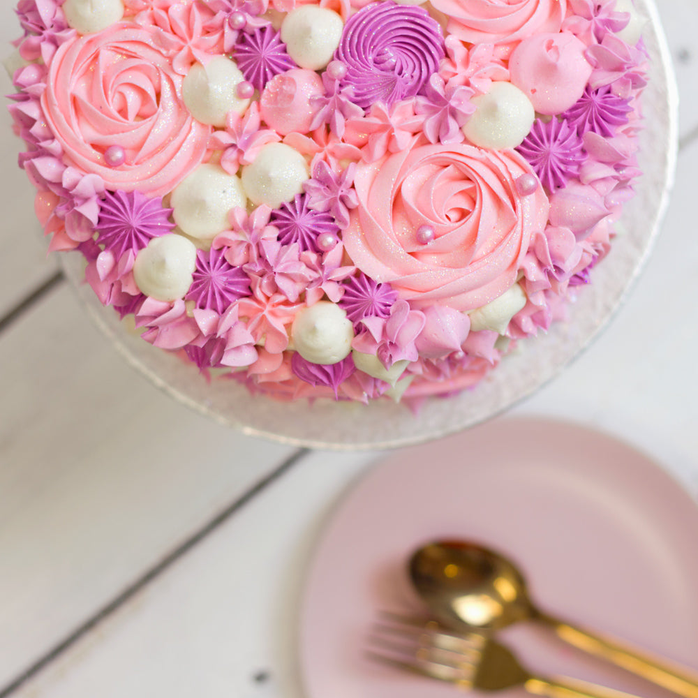 Swirl Piped Ombre Pink Cake – Flavourtown Bakery