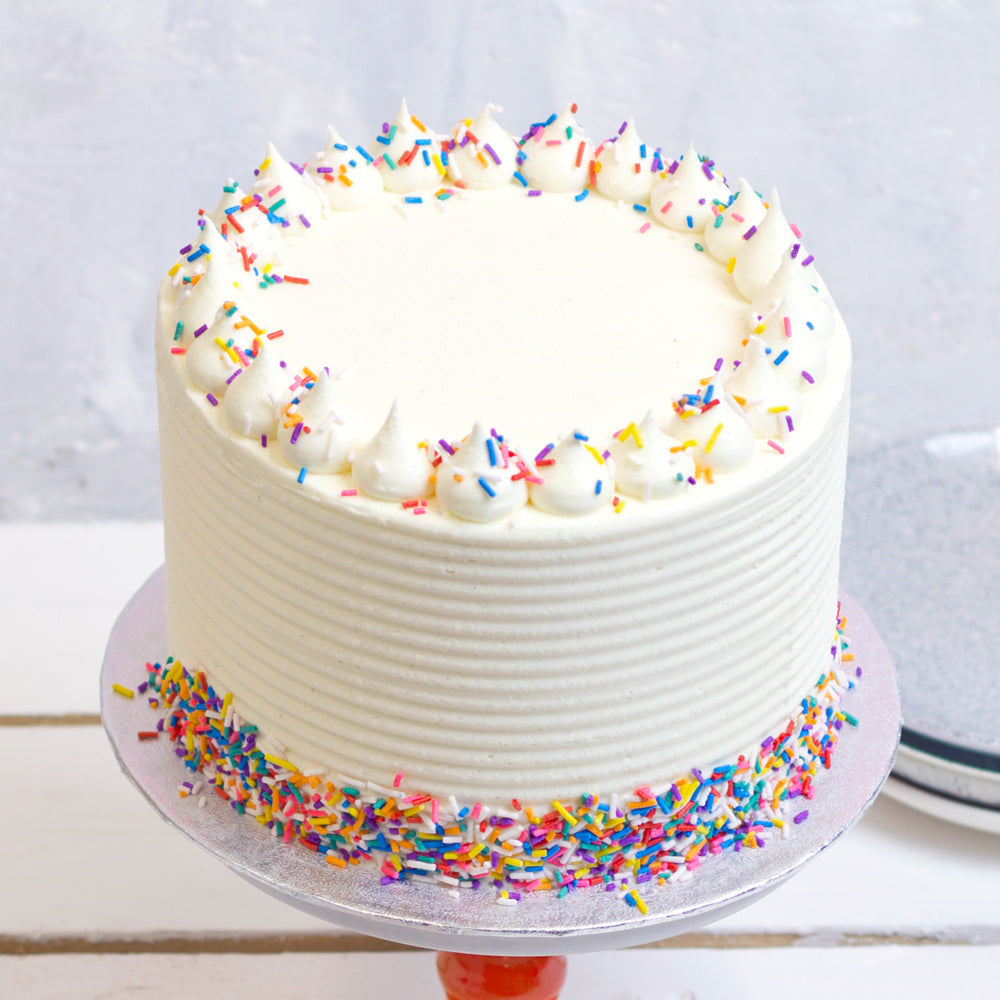 Free From Gluten Vanilla Birthday Cake