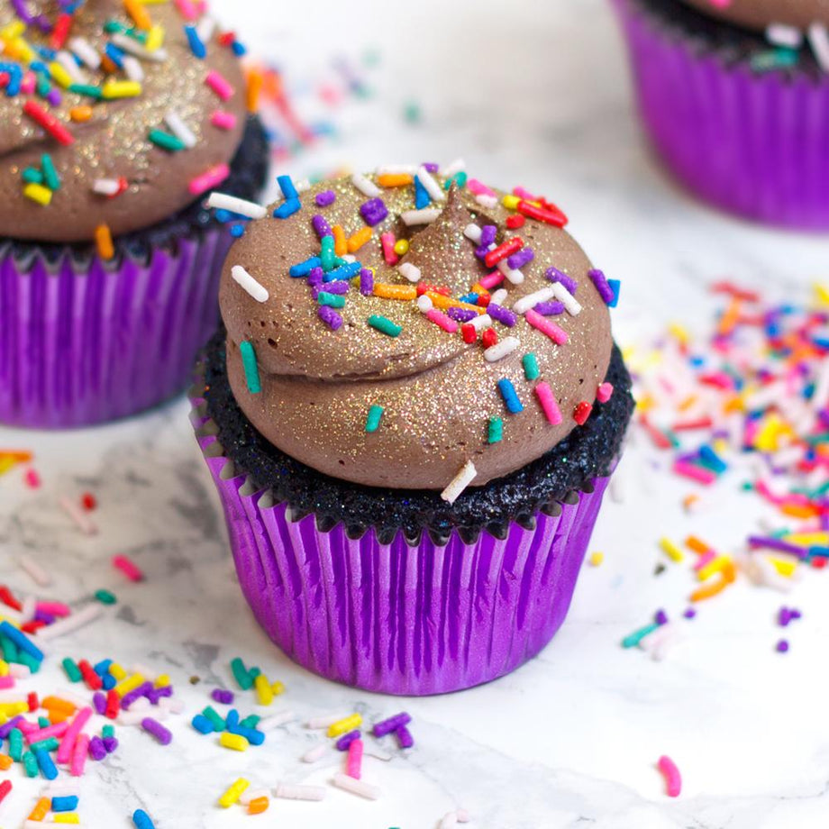 Free From Gluten Chocolate Party Cupcake