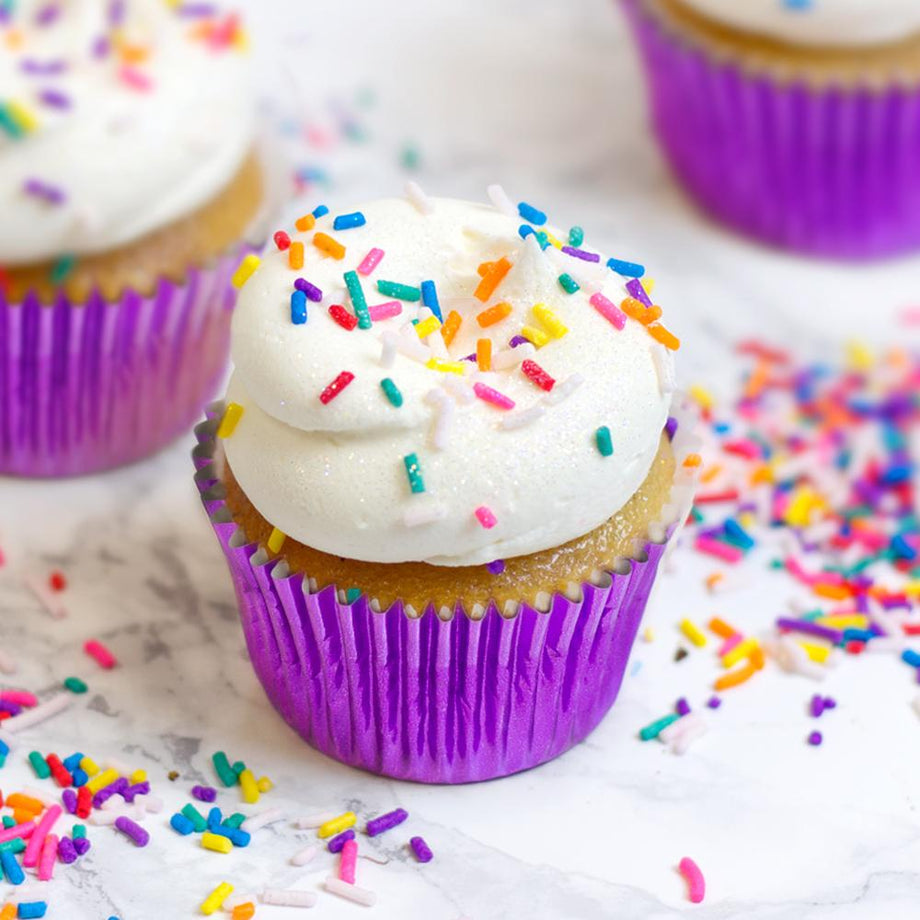 Free From Gluten Vanilla Party Cupcake