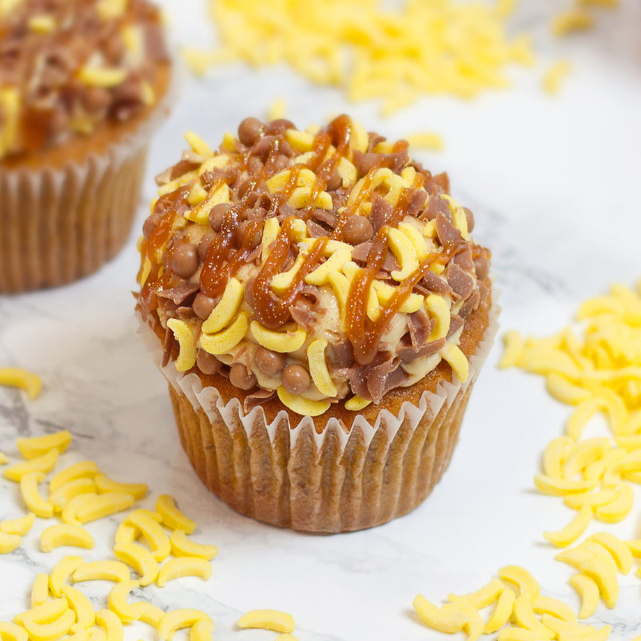 Banana Sea Salt Caramel Cupcake
