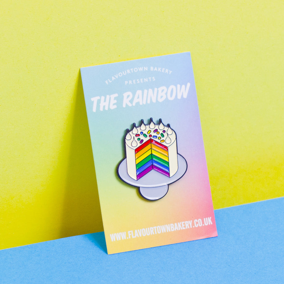 Rainbow Cake enamel pin badge