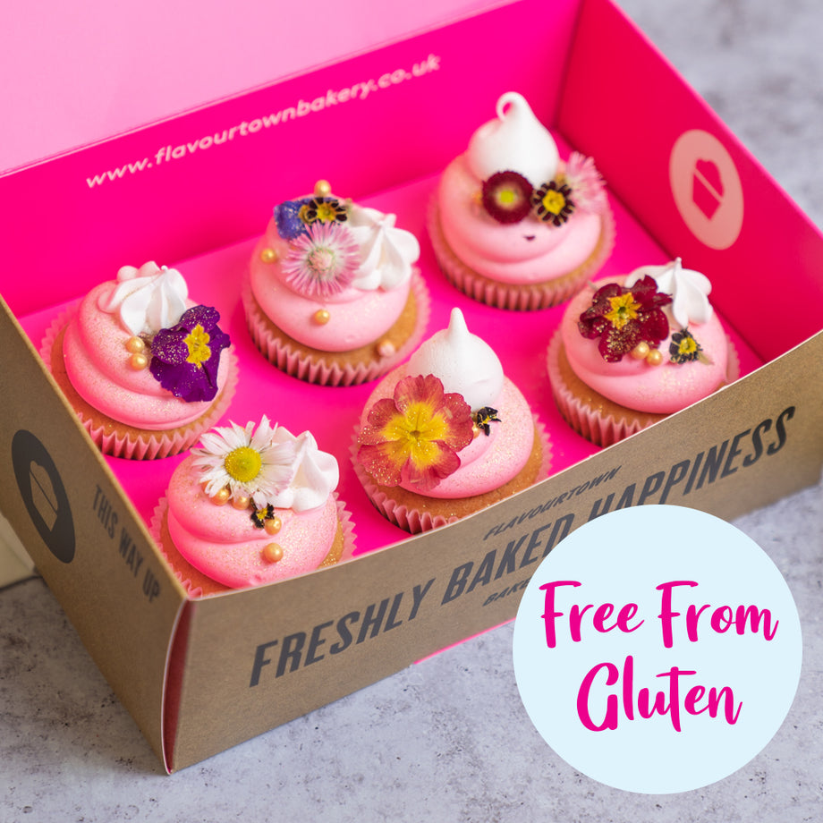 Free From Gluten Mother's Day Flower Cupcake
