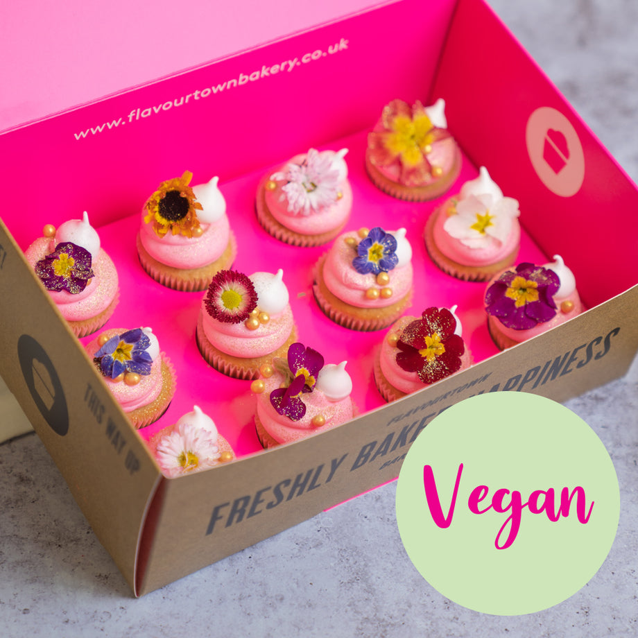 Vegan Mother's Day Flower Mini Cupcakes
