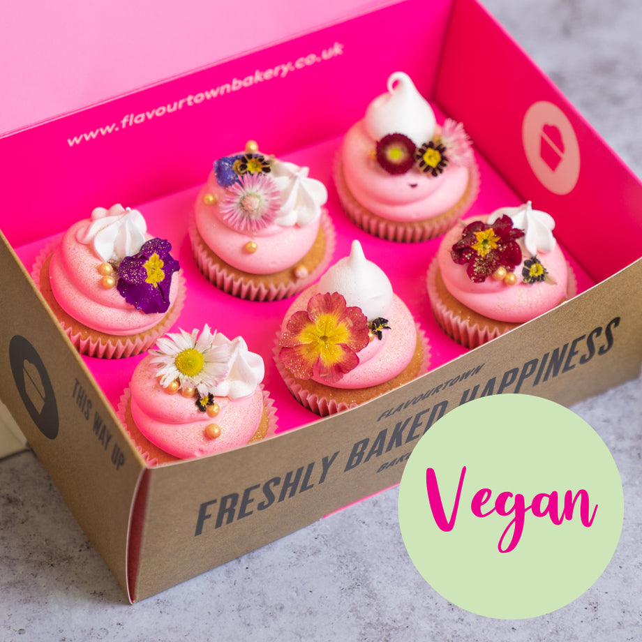 Vegan Mother's Day Flower Cupcake