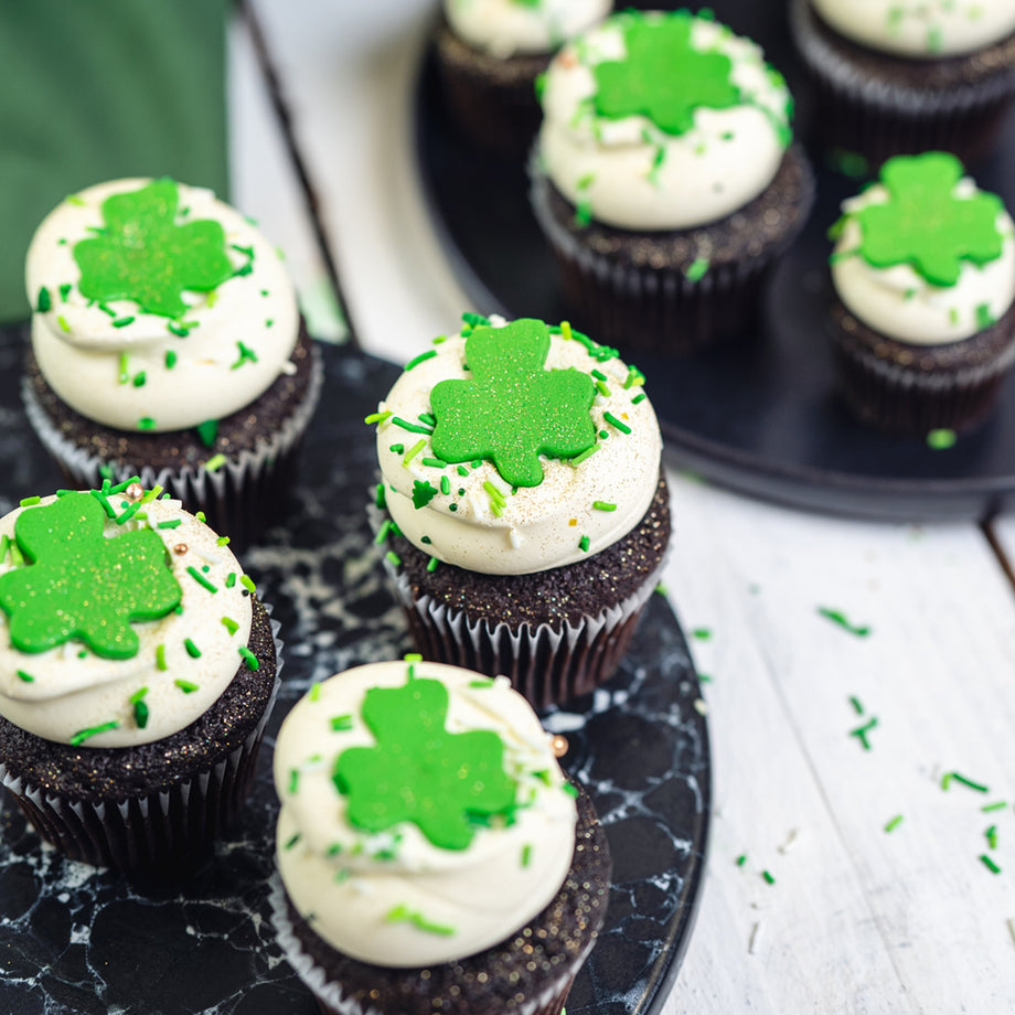 Vegan Chocolate St. Patrick's Day Cupcake