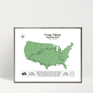 personalized travel map-custom map-road trip map