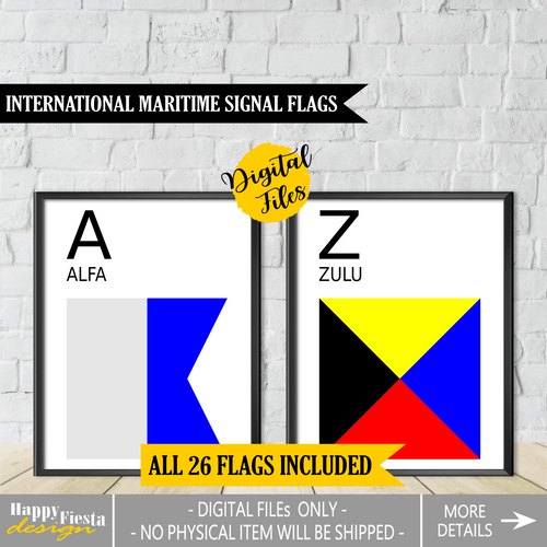 Printable International Maritime Signal Flags