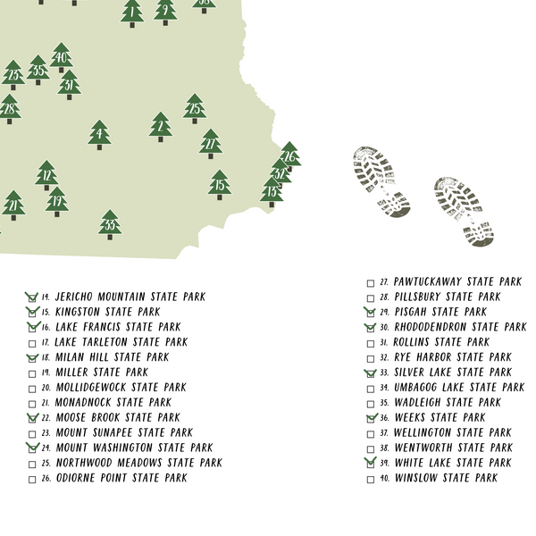 new hampshire state parks map-new hampshire state parks checklist
