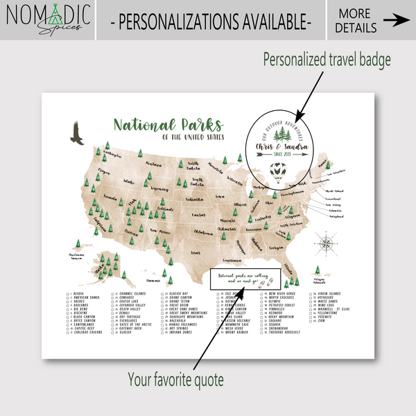 nomadic spices-personalizations
