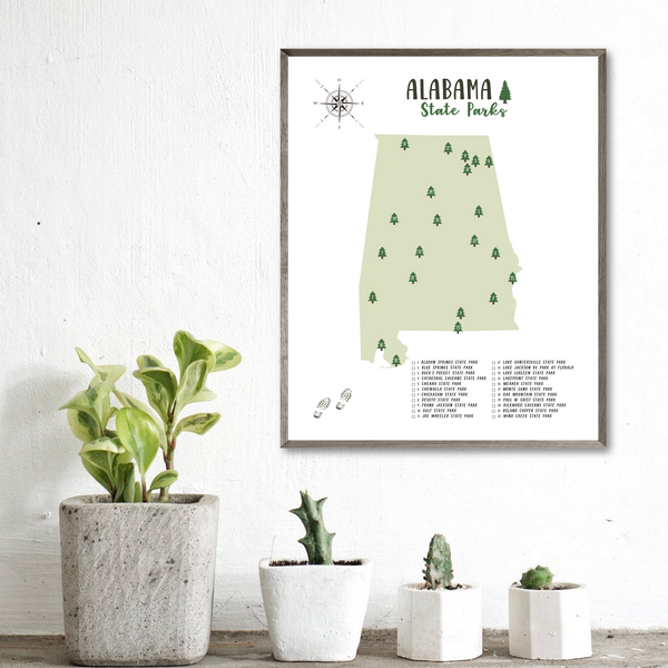 alabama state parks map-adventure print