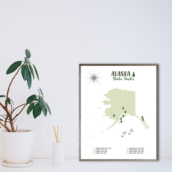 alaska state parks map-travel gift