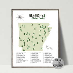 arkansas state parks map print
