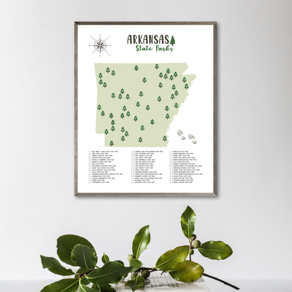 arkansas state parks map-gift for hiker