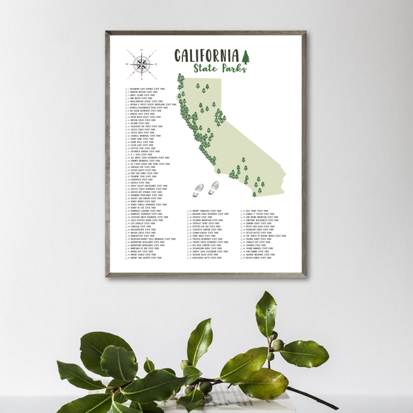 california state parks map-adventure gift