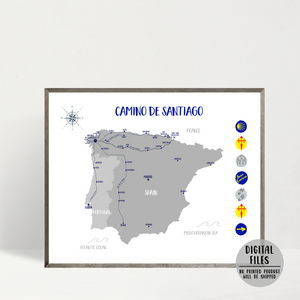camino de santiago map-st.james way map