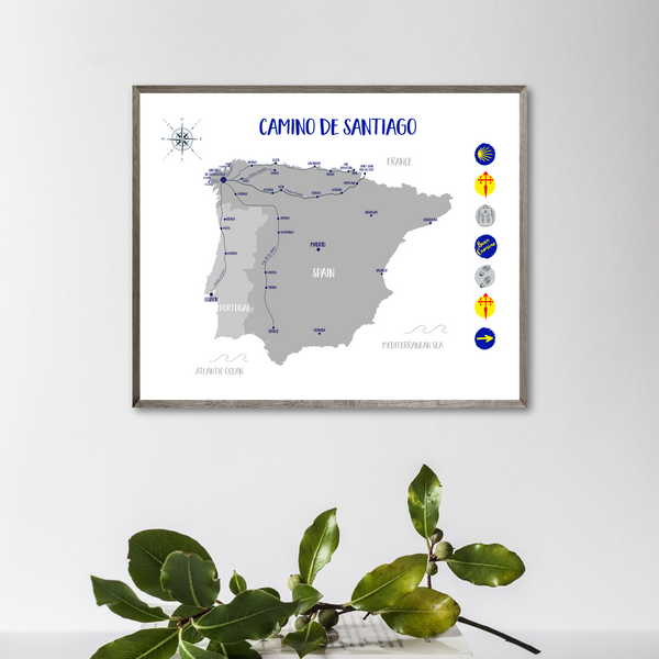 camino de santiago map for printing-camino santiago map