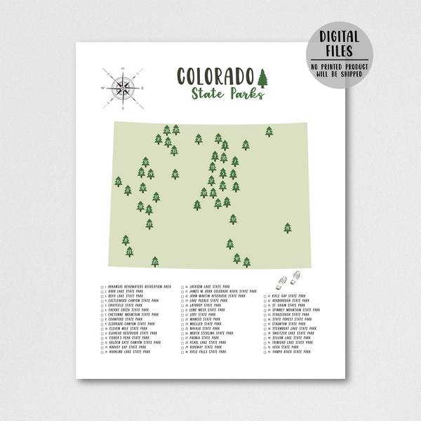 Colorado State Parks Map-Hiker Gift