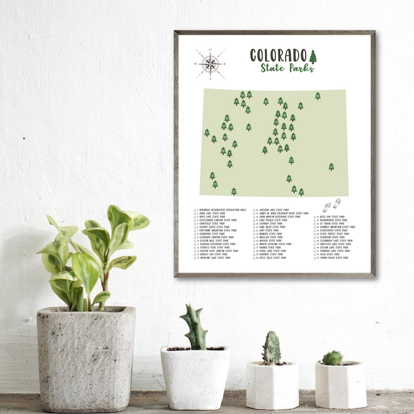 colorado state parks map-gift for traveler