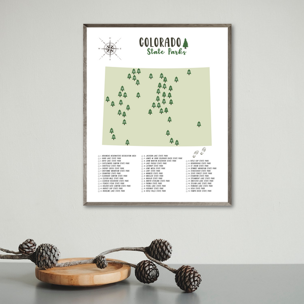 colorado state parks map-gift for adventurer