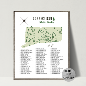 connecticut state parks map-gift for hiker