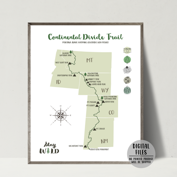 continental divide trail map-continental divide trail hiking trail map