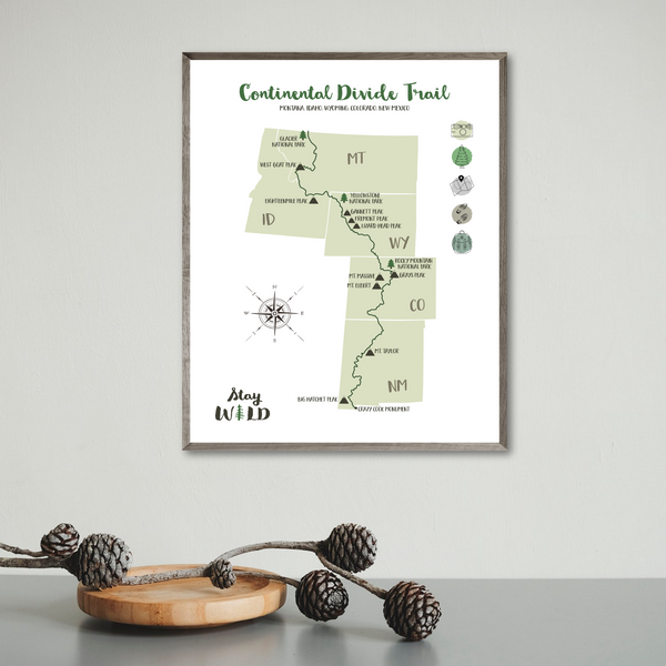 continental divide trail-continental divide trail poster