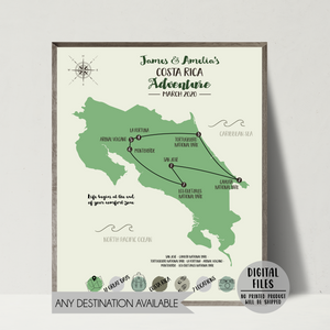 personalized travel map-custom travel map-gift for traveler