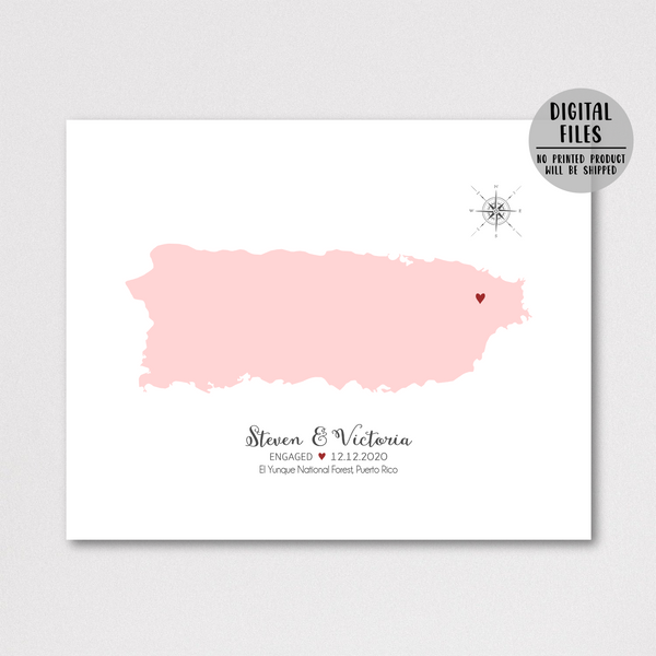 engagement location map print-personalized engagement map
